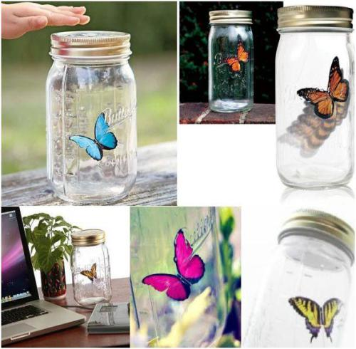 электронная бабочка - подарок девушке на новый год