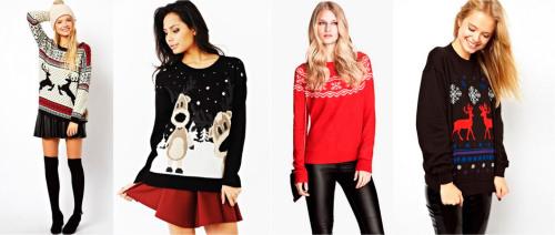новогодние свитера подарок девушке на новый год